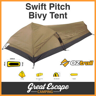 AU69.90 • Buy OZtrail Swift Pitch 1 Person Bivy Tent