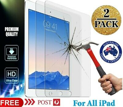AU10.99 • Buy 2Pack Tempered Glass Screen Protector Apple IPad 10.2 7th Gen.2019 8th Gen.2020