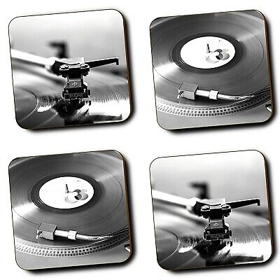 Vinyl Records Music Retro Record Player Coasters - Set Of 4 - Hardboard - Gifts • 9.99£