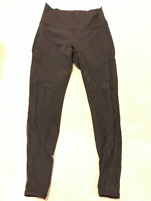 $ CDN68 • Buy EUC Lululemon Size 10 Wunder Under Pant Leggings With Mesh Black