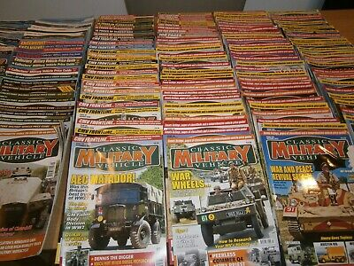 Classic Military Vehicle Magazine Issues 01 To 170 (incomplete Set) • 19£