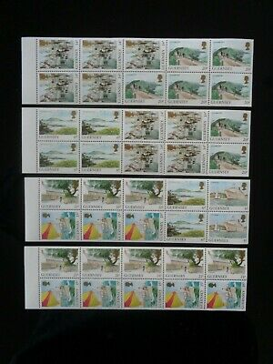 GUERNSEY 1989-1991 4 X BOOKLET SE-TENANT PANES OF 10 STAMPS MINT MNH  • 3.35£