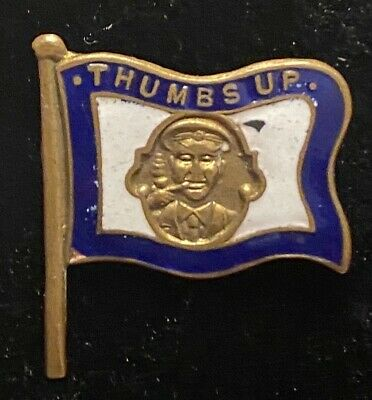 World War One Thumbs Up Lucky Charm Good Luck Soldiers Enamel Sweetheart Badge • 9.99£
