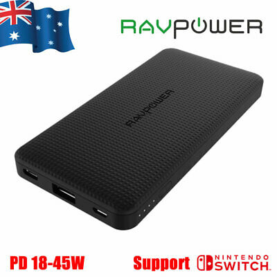 AU56.95 • Buy Ravpower Power Bank Battery 10000mAh PD QC 3.0 USB Type C For Nintendo Switch