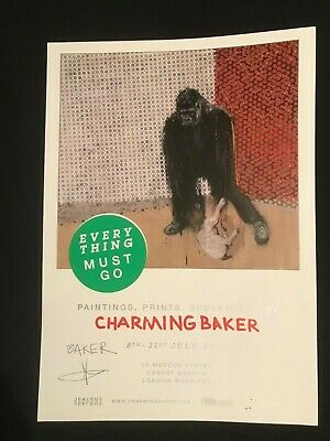 £44.99 • Buy Charming Baker Everything Must Go Signed Poster Dface/banksy/obey Interest
