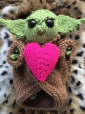 $30 • Buy Baby Yoda Toy.  Hand Knit.  My Own Design. Approx 7  Tall.