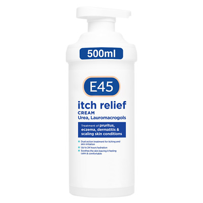 £17.69 • Buy E45 Itch Relief Cream Pump 500 G - Dermatological - AUTHORISED SELLER, UK STOCK