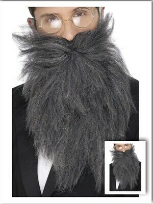 Adult Mens Fake Fancy Dress Long Grey Beard And Tash Stag Dress Up Cosplay Party • 6.14£