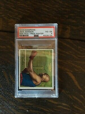 $150 • Buy 1910 T218 Champions Prize Fighters JACK JOHNSON Side Face PSA 4 HOF Boxing