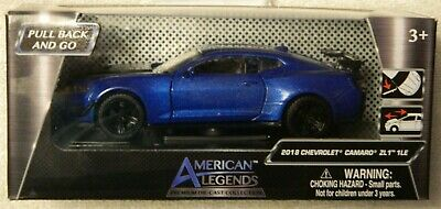 $12.99 • Buy American Legends 2018 Chevrolet Camaro ZL1 1LE - Metallic Blue - 1:39 Scale  New