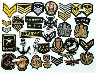 £1.89 • Buy Embroidered Military Army NASA Style Iron On Sew On Patches Badges Various Style