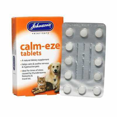 £5 • Buy Johnson's Calm-Eze Dog Cat Calming Tablets For Nervous Hyperactive Anxious Pets