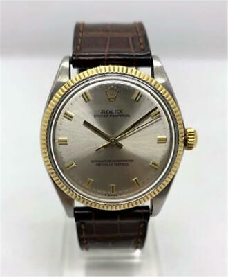 $ CDN3962.74 • Buy Auth Rolex Watch Oyster Perpetual 1962 Antique 1005 Ss Yg 34mm Mens F/s