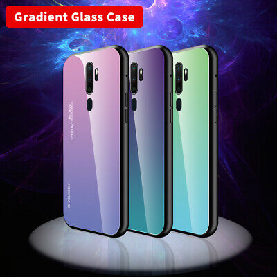 AU7.53 • Buy For OPPO A9 (2020) A33 A35 A39 A79 Gradient Tempered Glass Hard Back Case Cover