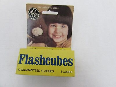 $11.24 • Buy Vintage GE Flashcubes - Set Of 3 Cubes With 12 Flashes In Original Box
