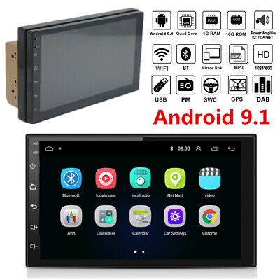 $111.50 • Buy Double Din 7  Touch Screen Android 9.1 Car Stereo Radio GPS Navigation Wifi MP5