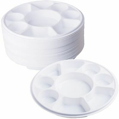 £17.99 • Buy 9 Compartment Plastic Dinner Plates 50pc Party Home Food Disposable Section Tray