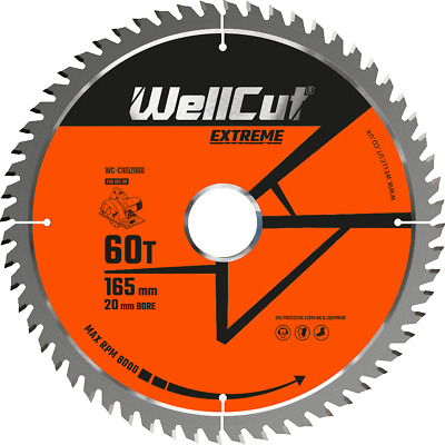 £8.99 • Buy Circular Saw Blade Extreme 165mm X 60T X 20mm For DSS610, DCS611, DCS391