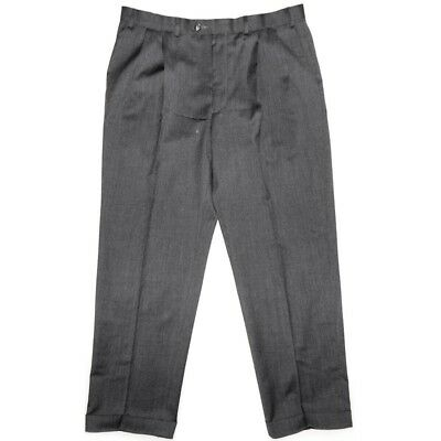 50s Style Rockabilly Retro Peg Pants Merino Trousers With Turn Ups W36 L29 Grey • 34.99£