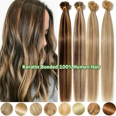 $24.05 • Buy Luxury Thick 16 -24  Pre Bonded Nail U Tip Keratin Remy Human Hair Extensions US