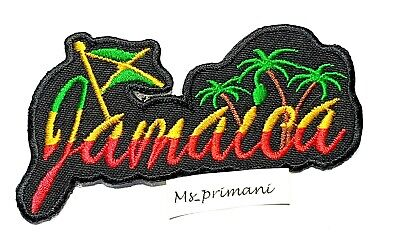 Jamaica Flag Embroidered Patch Rasta Reggae Iron/Sew On  Bag Jacket Badge 10X5.6 • 1.75£