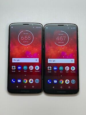 $ CDN197.44 • Buy Lot Of 2 Motorola Moto Z3 Play 64GB XT1929-6 Deep Indigo Black Claro Smartphone