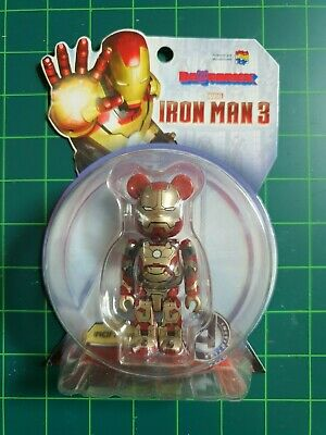 $149 • Buy Bearbrick IRON MAN MARK 42 100% Mark XLII BE@RBRICK Medicom Toy