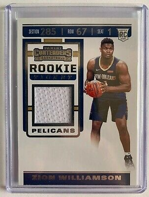$75 • Buy Zion Williamson 2019-20 Contenders Rookie Jersey #RTS-ZWL Mint!