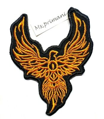 Embroidered Phoenix Iron/Sew On Patch Bird Animal Motorcycle Eagle Badge 7X8.5cm • 1.89£