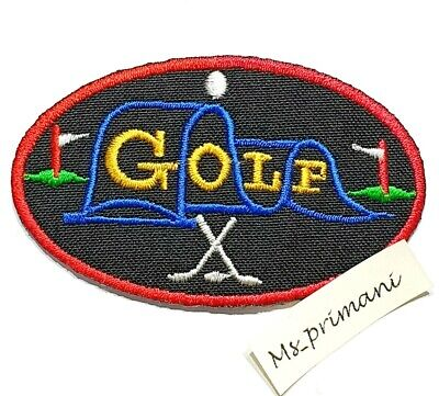 Embroidered Golf Patch Iron/Sew On Clothes Badge Clubs Game Badge Jeans 7.7x 4.6 • 1.75£
