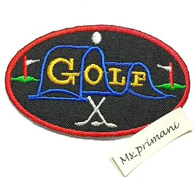 £1.75 • Buy Embroidered Golf Patch Iron/Sew On Clothes Badge Clubs Game Badge Jeans 7.7x 4.6