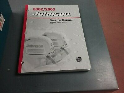 AU51.54 • Buy Service Manual For A 2002 Or 2003 Johnson Outboard Motor 3.5 To 8 HP Two Stroke