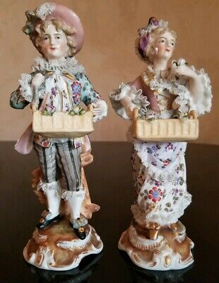 $ CDN188.31 • Buy Antique Porcelain Figurine Pair With Lace