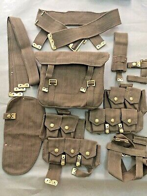 Wwi British P08 Web Set (10 Pcs) - Reproduction • 130.22£