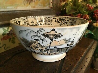 $148 • Buy Antique Dutch Pottery Chinoiserie Bowl Maastricht