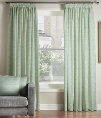 £37.95 • Buy Montgomery Bali Duck Egg Shimmer Pencil Pleat Lined Curtains - 46  X 54