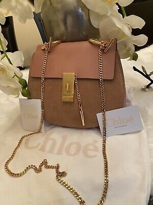 £1081.55 • Buy Authentic ChloÉ Drew Crossbody Bag Pink Leather, Suede $1,750 List