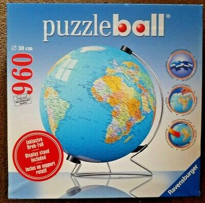 $45 • Buy Ravensburger Puzzle Ball Globe With Display Stand 960 Pieces