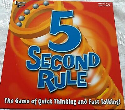 AU9 • Buy 5 Second Rule University Board Game 2011 Best New Game