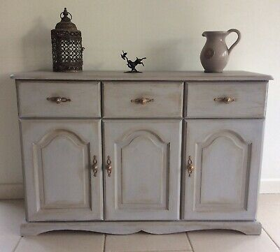 Vintage French Style Shabby Chic Painted Annie Sloan Country Kitchen Sideboard • 220£