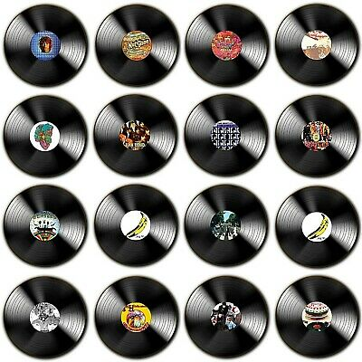 Sixties Vinyl Album's - Sixties Music Records - Wood Coasters - 4 For 3 Offer • 3.79£