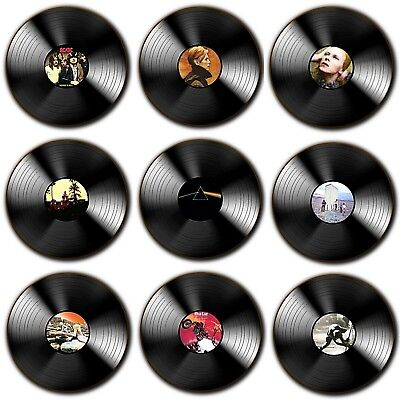 Seventies Music Vinyl 70's Album's Vinyl Themed - Wood Coasters - 4 For 3 Offer • 3.79£