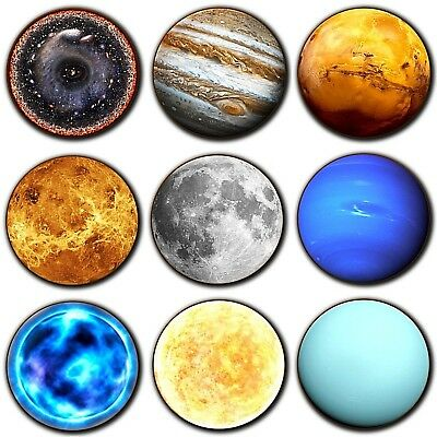 Planets Coasters Solar System Stars Astronomy Gifts Coasters - Wooden - 4 For 3 • 3.49£