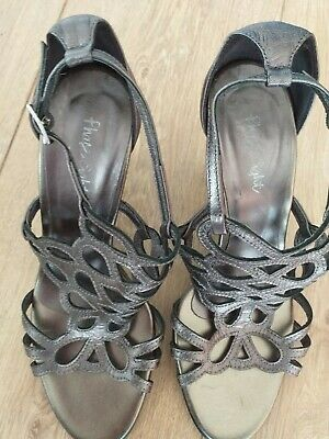 Phase Eight Pewter Silver Shoes Size 37 Uk 5 • 8£