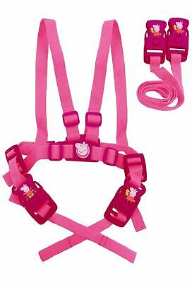 Baby Child Toddler Travel Safety Walking Harness And Reins Peppa Pig Girls Pink • 9.74£
