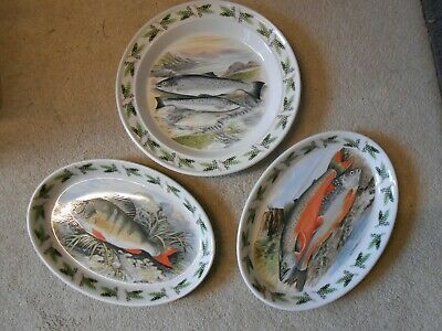 Portmeirion Fish Plates Servers. Portmerion Oval Fish Servers. Welsh Dresser Art • 49.49£
