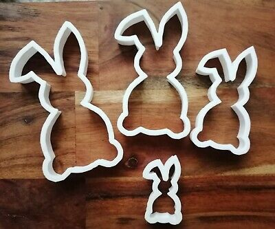 Rabbit Bunny Cookie Cutter Biscuit Dough Face Pastry Easter 4 Size AL126-29 • 3.89£