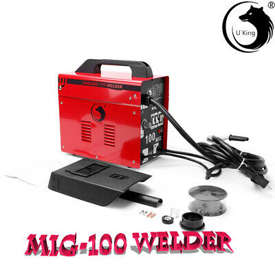 MIG-100 Welder Gas Less Flux Core Wire Automatic Feed Welding Machine 230V UK • 80.99£