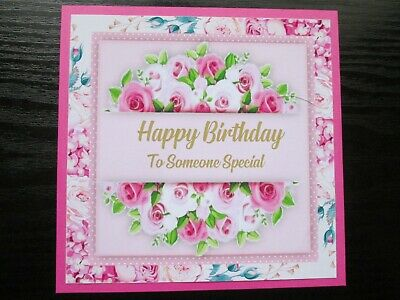 2 X HAPPY BIRTHDAY TO SOMEONE SPECIAL------ FLORAL Card Toppers   • 1.20£