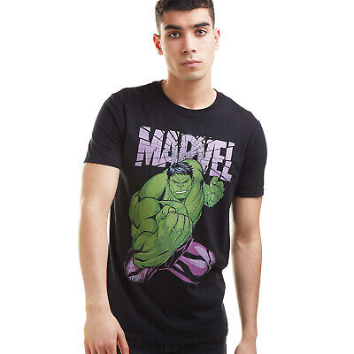 Official Marvel Mens - The Incredible Hulk Uppercut - T-shirt - Black • 12.99£